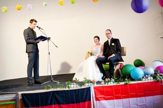 Hochzeitszeremonie im Gasthof Weissig
