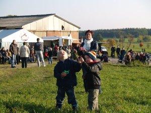 Zum alljährlichen Drachenfest in Weißig auf den Teichwiesen kommen Jung & Alt.